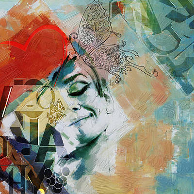 Conceptual Art Painting - Abstract Women 008 by Corporate Art Task Force
