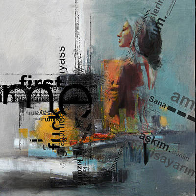 Conceptual Art Painting - Abstract Women 013 by Corporate Art Task Force