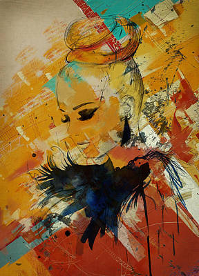 Elusive Painting - Abstract Women 010 by Corporate Art Task Force
