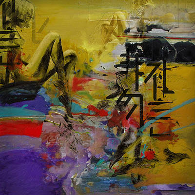 Elusive Painting - Abstract Women 016 by Corporate Art Task Force