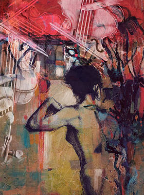 Elusive Painting - Abstract Women 017 by Corporate Art Task Force