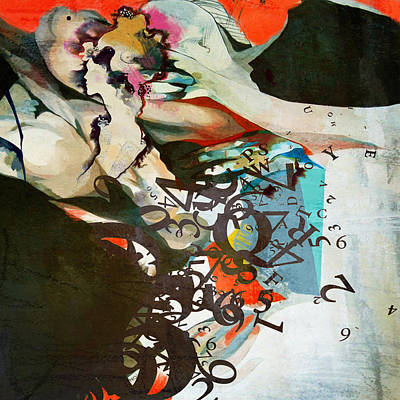 Elusive Painting - Abstract Women 025 by Corporate Art Task Force