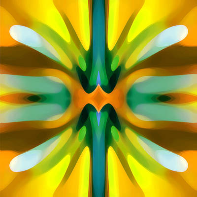 Colorful Abstract Digital Art - Abstract Yellowtree Symmetry by Amy Vangsgard
