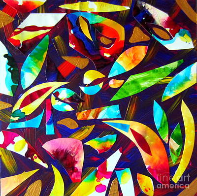 Abstraction And Colorful Thoughts Print by Roberto Gagliardi