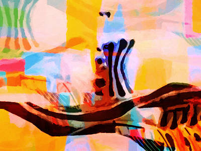 Colorful Abstraction Print by Lutz Baar