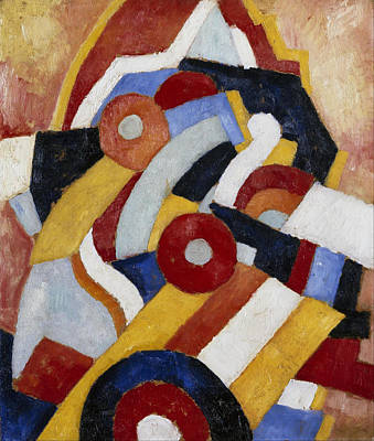 Marsden Hartley Painting - Abstraction by Marsden Hartley