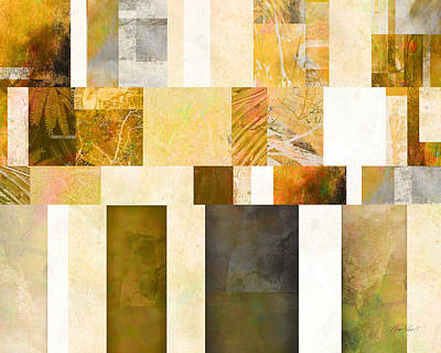 Avant Garde Mixed Media - Abstraction On A Rectangle - Abstract Art by Ann Powell