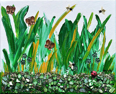 Ladybug Mixed Media - Abundance Of Spring by Donna Blackhall