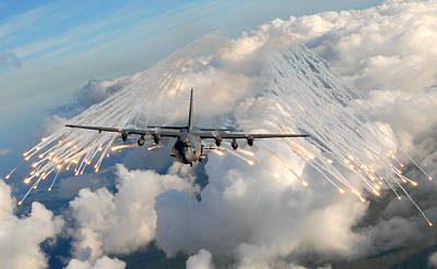 Uso Photograph - Ac-130h-u Gunship Aircraft by Celestial Images