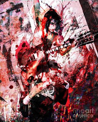 Bon Scott Painting - Ac Dc Original  by Ryan Rock Artist