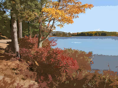 Maine Roads Painting - Acadia National Park Carriage Road by Elaine Plesser
