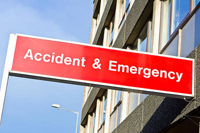 Accident And Emergency Print by Tom Gowanlock