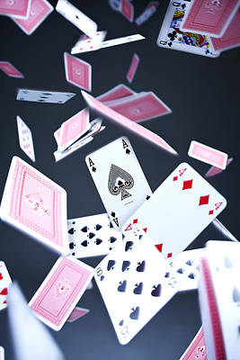 Playing Cards Photograph - Ace Of Spades by Samuel Whitton