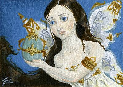Fairy Painting - Aceo Ornate Easter Fairy by Jennifer  Anne Esposito