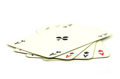 Playing Cards Photograph - Aces by Blink Images