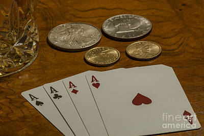 4 Aces Photograph - Aces Win by Dale Powell