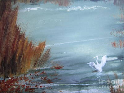 North American Wildlife Painting - Achieving Stillness  by Laurianna Taylor