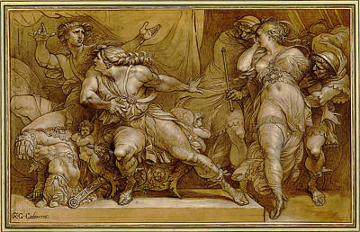 Achilles Painting - Achilles And Briseis by Giuseppe Cades