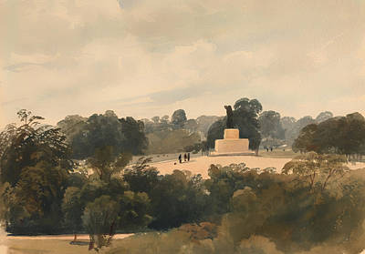 Hyde Park Painting - Achilles Statue In Hyde Park London by Mountain Dreams
