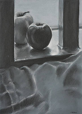 Still Life Drawing - Achromatic Red And Green by Christopher Reid