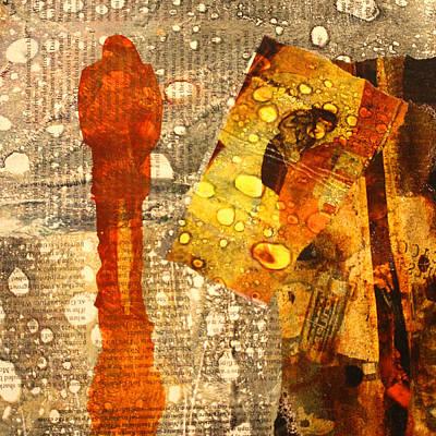 Handmade Paper Mixed Media - Acid Rain by Nancy Merkle