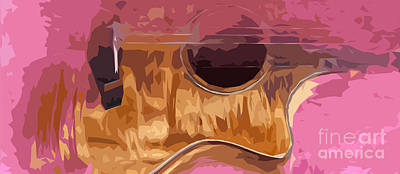 Beatles Digital Art - Acoustic Guitar 3 by Pablo Franchi