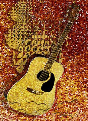 Acoustic Guitar Digital Art - Acoustic Guitar by Jack Zulli