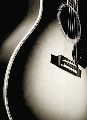 Acoustic Guitar Print by Ron Sumners