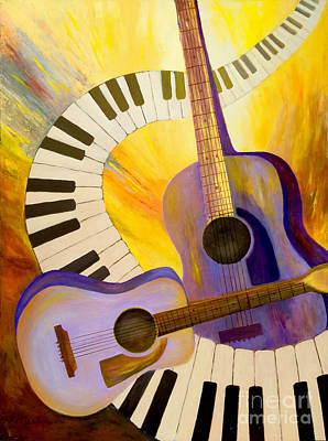Nashville Painting - Acoustics In Space by Larry Martin