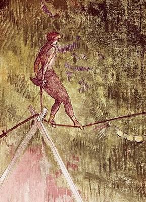 Trapeze Artist Painting - Acrobat On Tightrope by Henri de Toulouse Lautrec