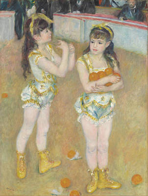 Pierre-auguste Renoir Painting - Acrobats At The Cirque Fernando.francisca And Angelina Wartenberg. by Pierre-Auguste Renoir