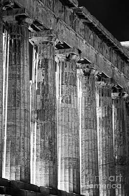 Athens Ruins Photograph - Acropolis Columns by John Rizzuto
