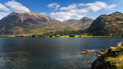 Lake District Photograph - Across Crummock Water To Rannerdale Knotts And Beyond by Steven Garratt