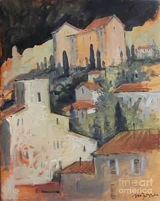 Italian Wine Painting - Across The Arno by Micheal Jones