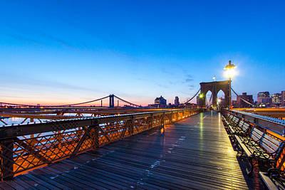 Across The Bridge Print by Daniel Chen