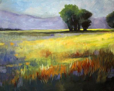 Across The Field Print by Nancy Merkle