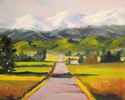 Mountain Valley Painting - Across The Valley by Nancy Merkle
