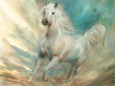 Animal Art Giclee Mixed Media - Across The Windswept Sky by Carol Cavalaris