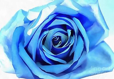 Blue Flowers Photograph - Acrylic Blues by Krissy Katsimbras