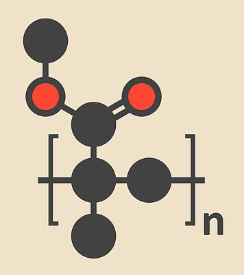 Polymer Photograph - Acrylic Glass Polymer Molecule by Molekuul
