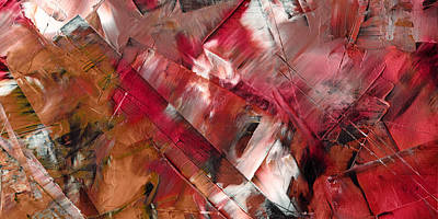 Abstract Modern Painting - Action 1-c by Brian Allan