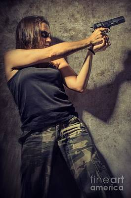 Aiming Photograph - Action Woman I by Carlos Caetano