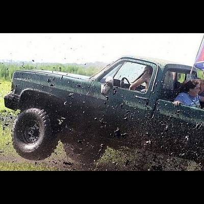 Truck Photograph - #actionshot #action #mudding by Lisa Yow