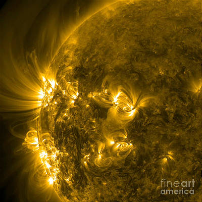 Heavenly Body Photograph - Active Regions Of The Sun by Science Source