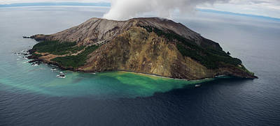 Active Volcanic Island, White Island Print by Panoramic Images
