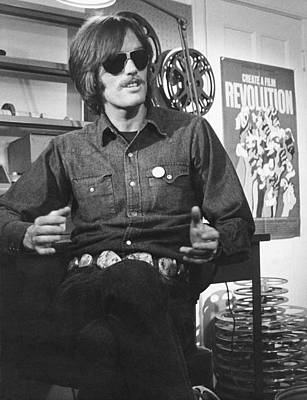 Actor Peter Fonda Print by Underwood Archives