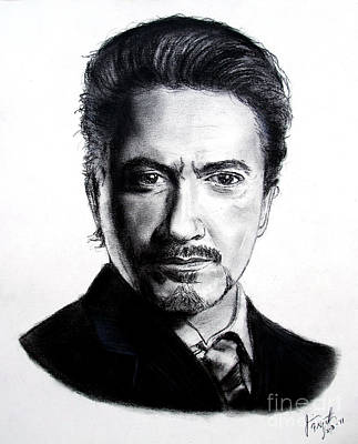 Back To Life Drawing - Actor Robert Downey Jr by Jim Fitzpatrick