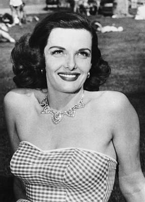 Actress Jane Russell Print by Underwood Archives