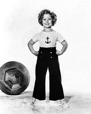 Actress Shirley Temple Print by Underwood Archives