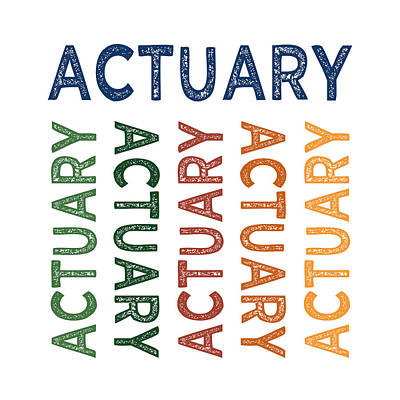 Actuary Cute Colorful Print by Flo Karp